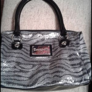 Silver and black Zebra design Handbag Purse